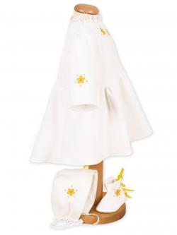 Costum botez fete flori galbene