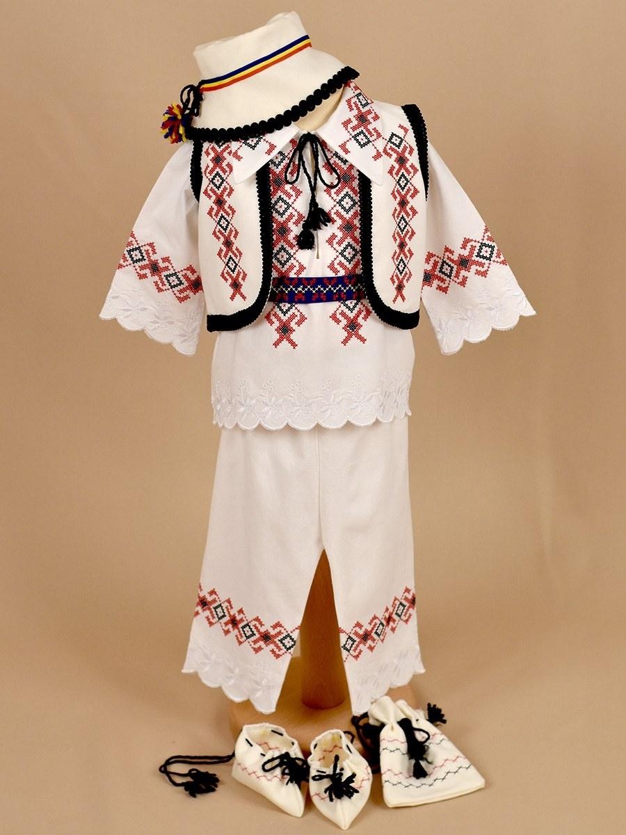 Costum botez baieti rosu si negru