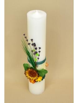 Lumanare botez Floarea Soarelui